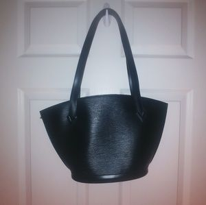 Louis Vuitton Paris black tote bag